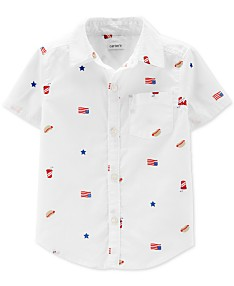 ae5f04d9ac43 Carter's Toddler Boys Woven Cotton Shirt