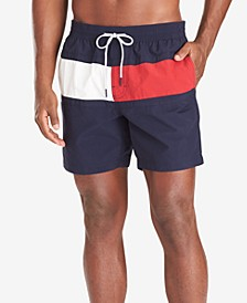 "Men's Tommy Flag 6.5"" Swim Trunks, Created for Macy's"