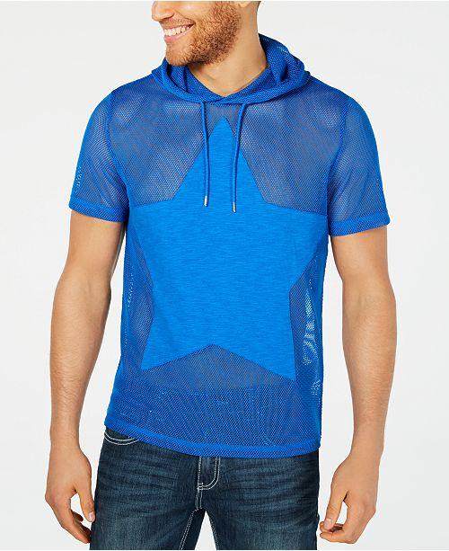 INC International Concepts I.N.C. Men's Star Hooded T-Shirt, Created for Macy's