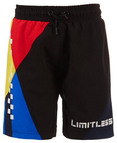 Ideology Toddler Boys Colorblocked Swim Trunks, Created for Macy's