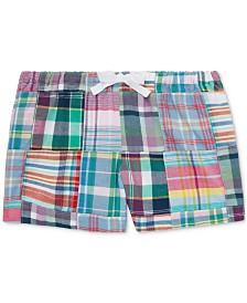 Polo Ralph Lauren Toddler Girls Patchwork Cotton Madras Shorts