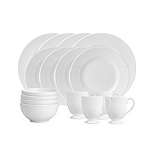 White 16-Piece Dinnerware Set, Service for 4