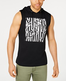 I.N.C. Men's Botanical Hoodie Tank Top, Created for Macy's