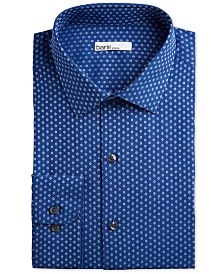 Bar III Men's Classic/Regular Fit Stretch Daisy Dobby Dress Shirt, Created for Macy's
