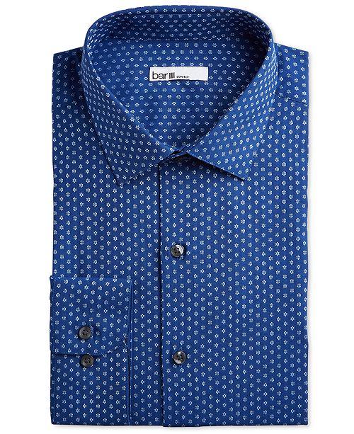 Bar III Men's Classic/Regular Fit Stretch Daisy Dobby Dress Shirt, Created for Macy's