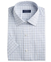 fdc1842a692 Club Room Men's Classic/Regular Fit Outline Tattersall Short Sleeve Dress  Shirt, Created for
