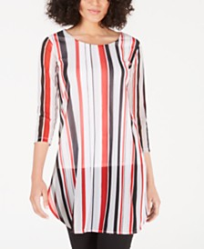 Alfani Striped Super Tunic, Created for Macy's