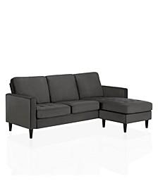 by Cosmopolitan Strummer Velvet Reversible Sectional Sofa
