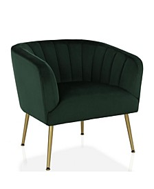 by Cosmopolitan Owsley Channel Back Accent Chair with Gold Legs