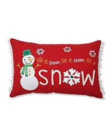 Let It Snow Lumbar Pillow