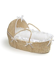 Natural Moses Basket with Hood