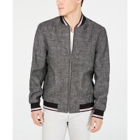 Deals on I.N.C. Mens Linen Chambray Jacket