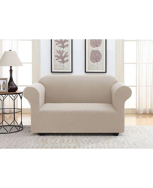 Macy Home Decor: Harper Lane Solid Slipcover Love Seat & Reviews
