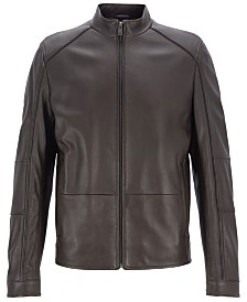 BOSS Men's Nikas Blouson Leather Jacket