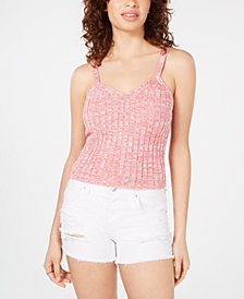 Hooked Up by IOT Juniors' Marled Rib-Knit Sweater Tank Top