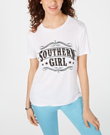 Pretty Rebellious Juniors' Southern Girl Graphic-Print T-Shirt