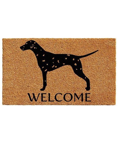 """Home & More Dalmatian 24"""" x 36"""" Coir/Vinyl Doormat"""