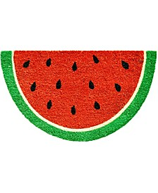 """Watermelon Slice 17"""" x 29"""" Coir/Vinyl Doormat"""