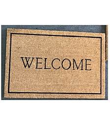 """Welcome Border 30"""" x 48"""" Coir/Vinyl Doormat"""