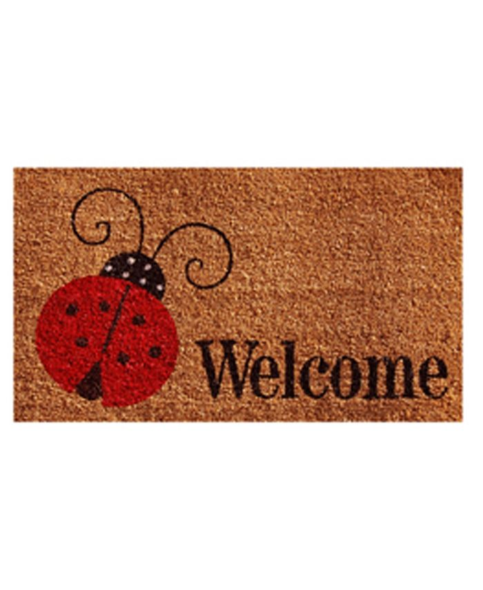 """Home & More - Ladybug Welcome 24"""" x 36"""" Coir/Vinyl Doormat"""