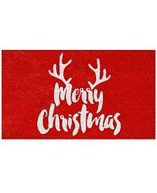 """Christmas Antlers 17"""" x 29"""" Coir/Vinyl Doormat"""