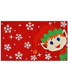"""Christmas Elf 17"""" x 29"""" Coir/Vinyl Doormat"""