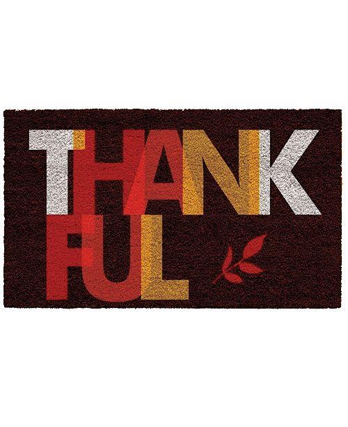 """Home & More Thankful 17"""" x 29"""" Coir/Vinyl Doormat"""