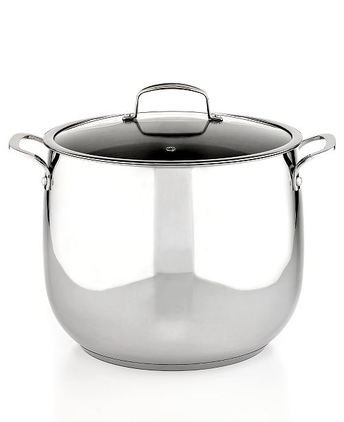 Belgique Stainless Steel 16 Qt  Stockpot, Created for Macy's