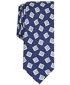 Men's Tessio Medallion Skinny Silk Tie