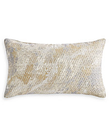 "Hotel Collection Metallic Stone 14"" x 24"" Decorative Pillow, Created for Macy's"