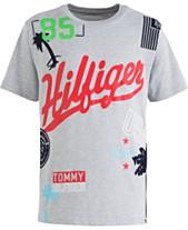 68279123 Tommy Hilfiger Big Boys Randomizer Heather Logo T-Shirt