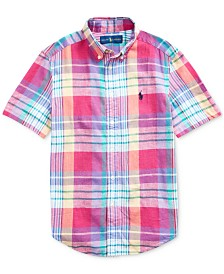Polo Ralph Lauren Big Boys Cotton Madras Shirt