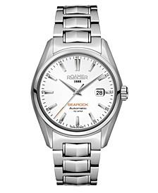 Men's 3 Hands Date 42 mm Dress Watch in Stainless Steel Case and Bracelet