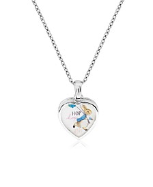 Beatrix Potter Sterling Silver Peter Rabbit Heart Locket Necklace