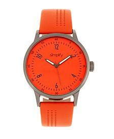 Quartz The 5700 Genuine Orange Leather Watch 44mm