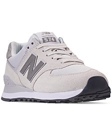New Balance Women's 574 Pebbled Casual Sneakers from Finish Line