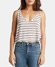 Adrianna Striped Cropped Top