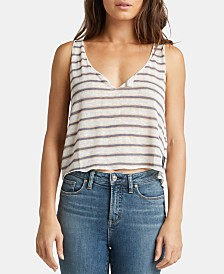 Silver Jeans Co. Adrianna Striped Cropped Top