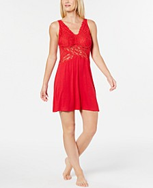 INC Ultra Soft Lace Detail Knit Chemise Nightgown, Created for Macy's