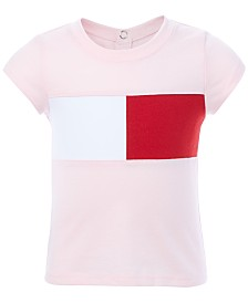 Tommy Hilfiger Baby Girls Pieced Logo Top