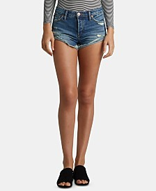 Silver Jeans Co. Hello Shorty Ripped Cuffed Jeans