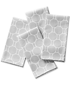 Boardwalk Dot Silver Napkins, Set of 4