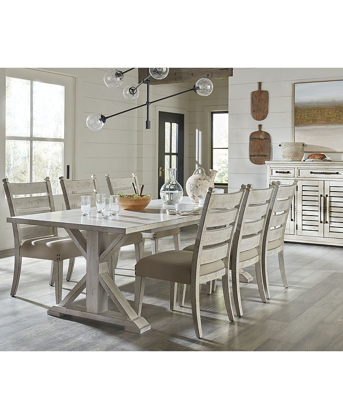 Trisha Yearwood Home Coming Dining Furniture 7 Pc Set Table 6 Side Chairs Reviews Furniture Macy S