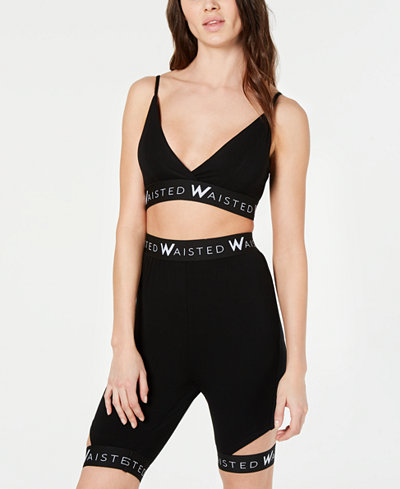 Waisted Cropped Logo Top