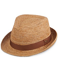 Men's Crocheted Raffia Fedora