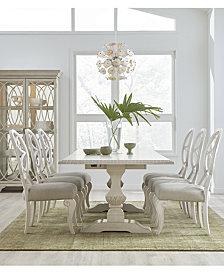 Trisha Yearwood Jasper County Dogwood Rectangular Dining Furniture, 7-Pc. Set (Table & 6 Side Chairs)