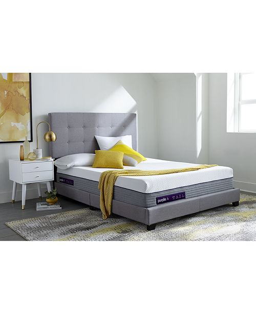"Purple .4 13"" Cushion Firm Mattress - King"