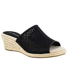 Easy Street Mandy Espadrille Slide Sandals