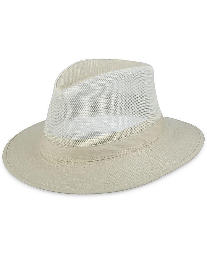 Dorfman Pacific - Men's Washed Twill Mesh Safari Hat