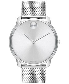 Men's Swiss Bold Stainless Steel Mesh Bracelet Watch 42mm